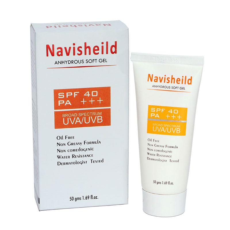 Anhydrous gel forms a Protective Layer over Skin,