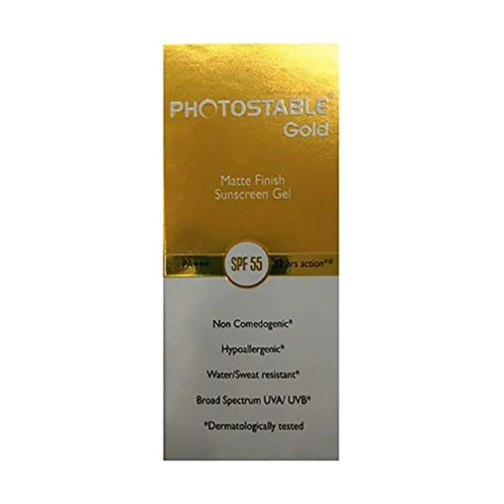 Photostable Gold Sunscreen Gel Spf 55