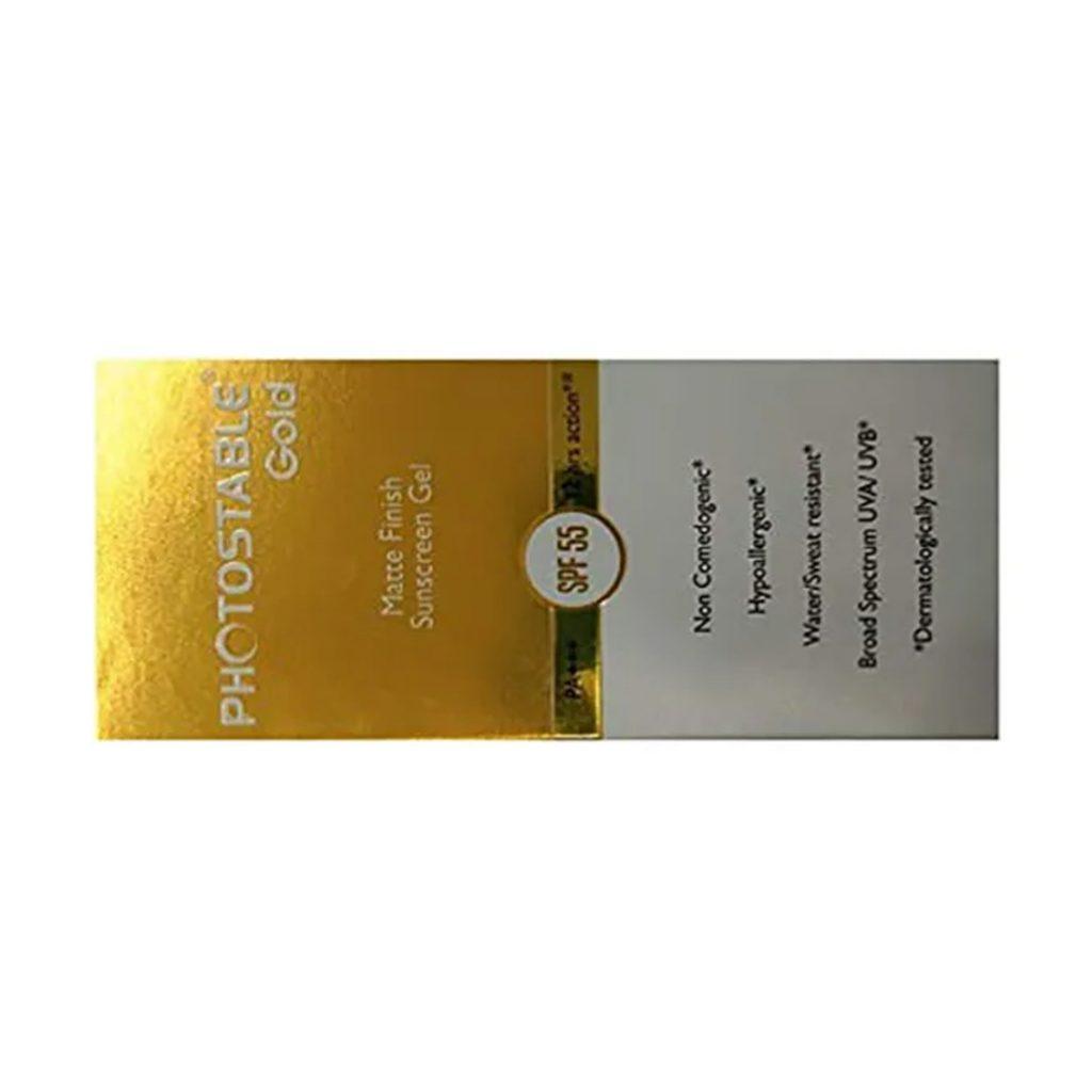 Photostable Gold Sunscreen Gel