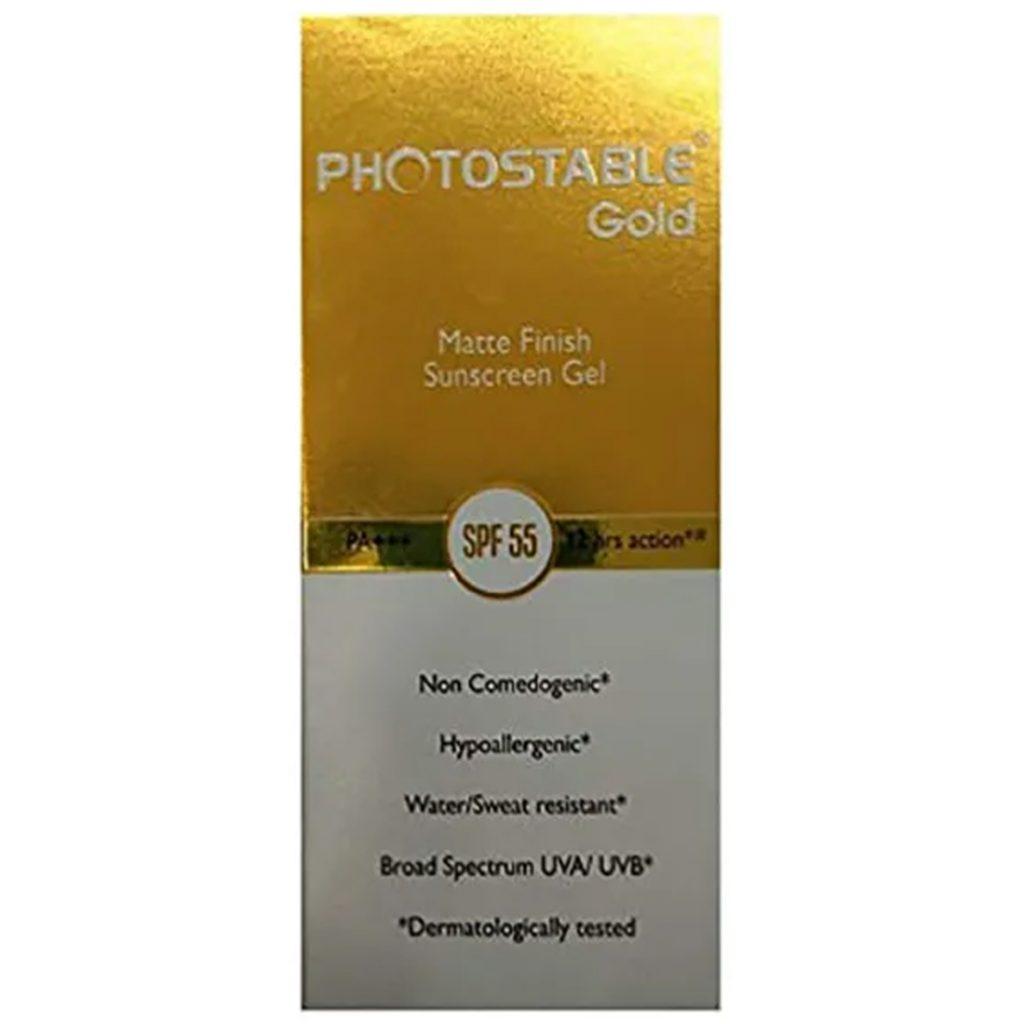 Photostable Gold Gel Spf 55