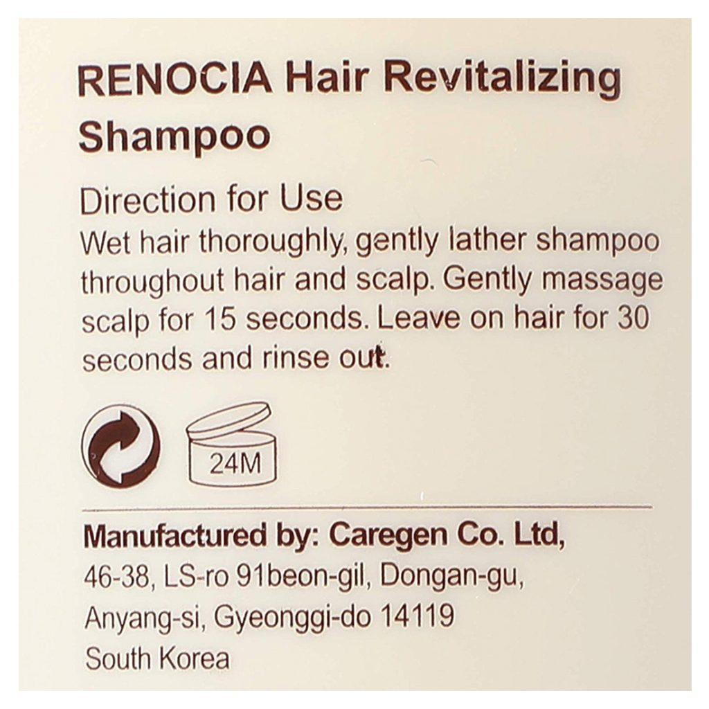 Renocia hair shampoo